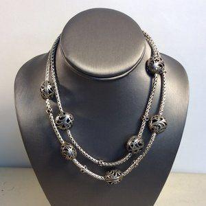Chico's VTG Silvertone Heavy Snake Bali Neck #195